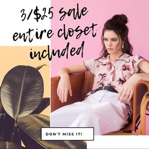 3/$25 all items included
